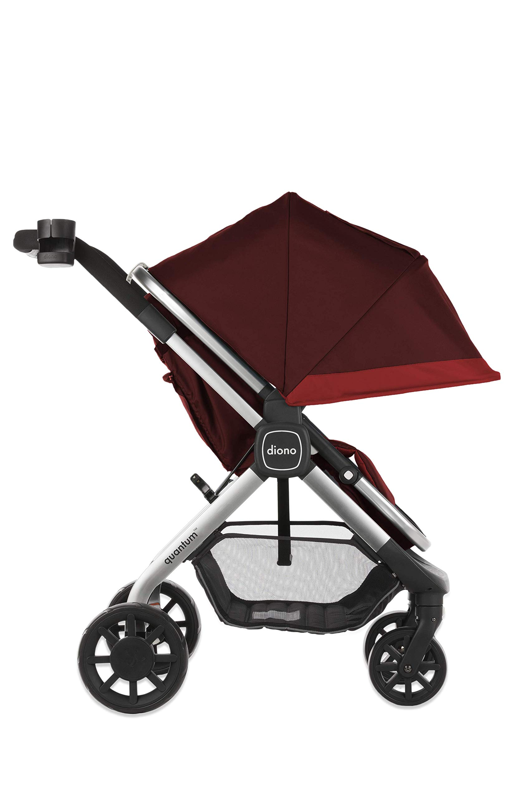 Diono Quantum, 2-in-1 Luxury Stroller, Red