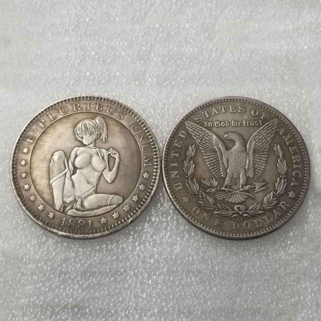 Hand Carved Hobo Nickel Funny Coins GoolCoinKit Girl longing for Liberty-Commemorative Old Coins Discover History US Coins-Handmade Coins CoolGoodsKit
