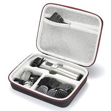Estuche rígido de Viaje Duro para Philips Norelco MG7750 / 49 MG7730 / 15 MG5720 / 15 MG7770 / 15 Estilista de Cara 7000 y Kit de Aseo, (Solo para la ...