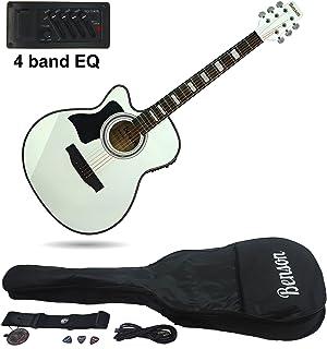 Benson S-Line zurdos eléctrica electro Semi acústica guitarra cuerpo hueco (color blanco)