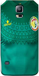 ColorKing Football Senegal 07 Green shell case cover for Samsung S5