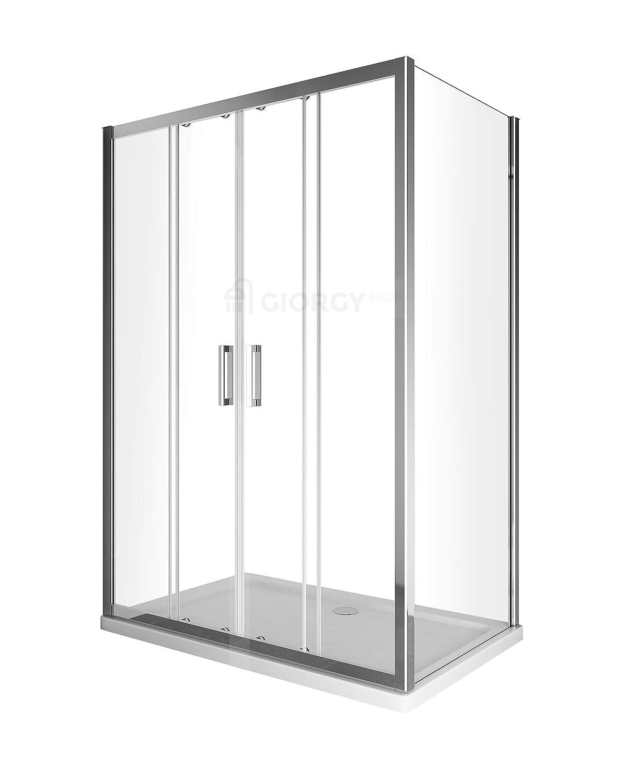 Cambio bañera Puerta Ducha 4 puertas deslizante con 1 pared fija ...