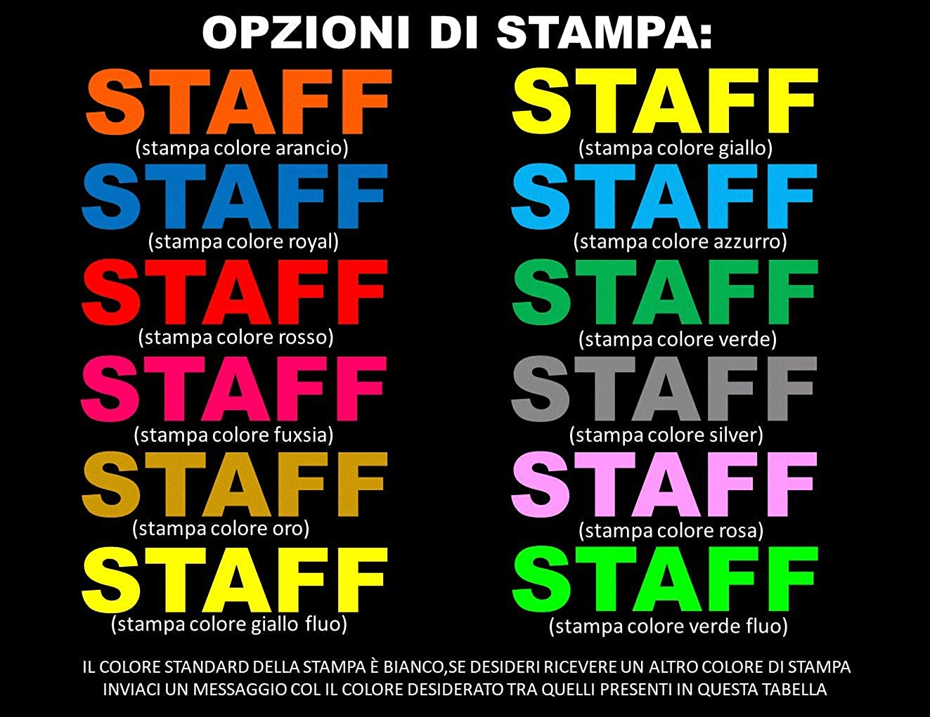 WIXSOO Polo Staff Uomo Italia Nera