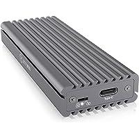 ICY BOX M.2 NVMe SSD Package, Port USB-C 3.1 (Gen2, 10 Gbps), clé PCIe M, système de Refroidissement, Aluminium, Noir