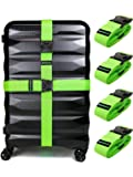 Untethered 4-Pack Luggage Straps | Belts to Keep Your Suitcase Secure While Traveling, Premium Accessory for Travel Bag…