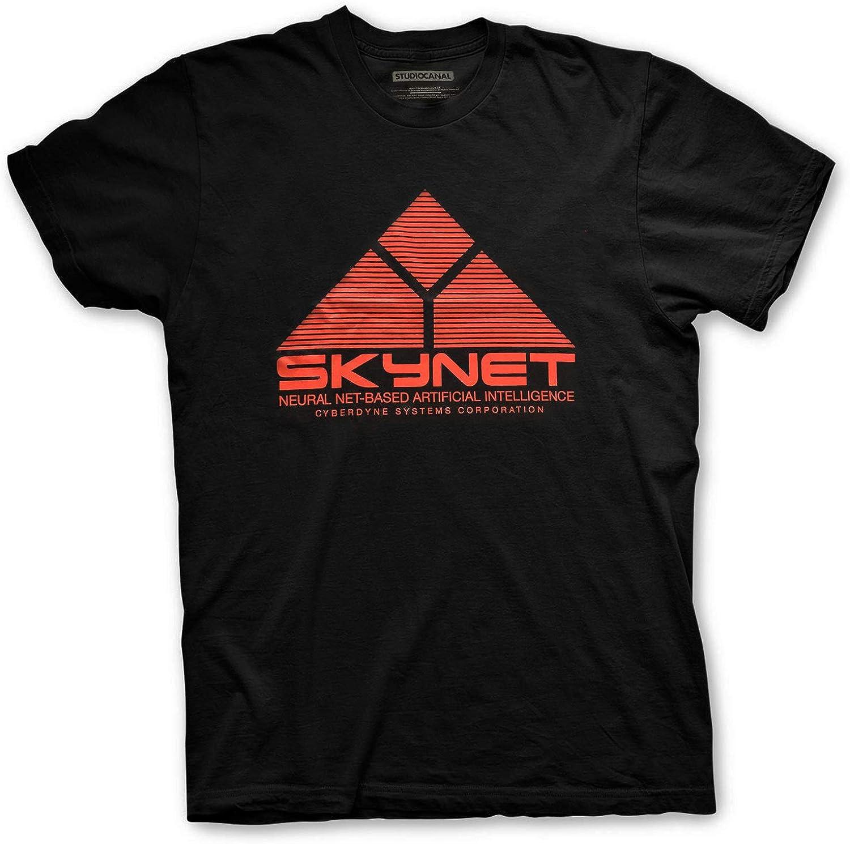 T-Shirt Skynet dal Film Cult del 91 Maglia Maglietta Studiocanal Terminator 2 Judgment Day Ufficiale Originale