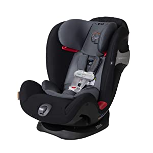 Cybex Eternis S All-in-One Car Seat with SensorSafe, Standard, Pepper Black
