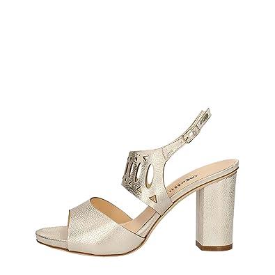 Melluso S515V Sandales Femme Platine Platine - Chaussures Sandale Femme