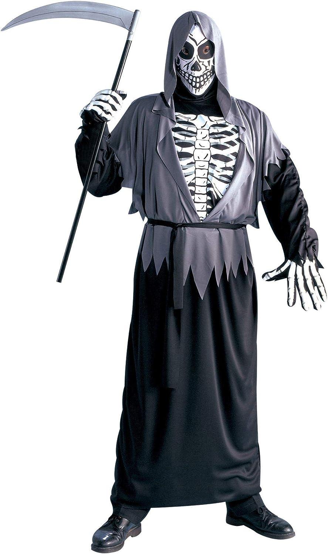 Halloween kostuum Henker met skelet Reaper Sensenmann dood