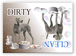 Wag Whimsy Weimaraner Clean Dirty Dishwasher Magnet
