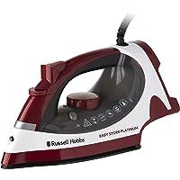 Russell Hobbs RHC1200 Easy Store Platinum Steam Iron, Red/White