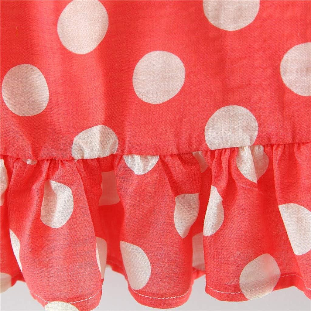 Sonnenhut Kind M/ädchen Outfits Kleider Blumen Weste Sommerkleidung Chiffon Strampler Spielanzug Hirolan Bekleidung 3 St/ück Kleinkind Baby T-Shirt+Shorts Kurze Hosen