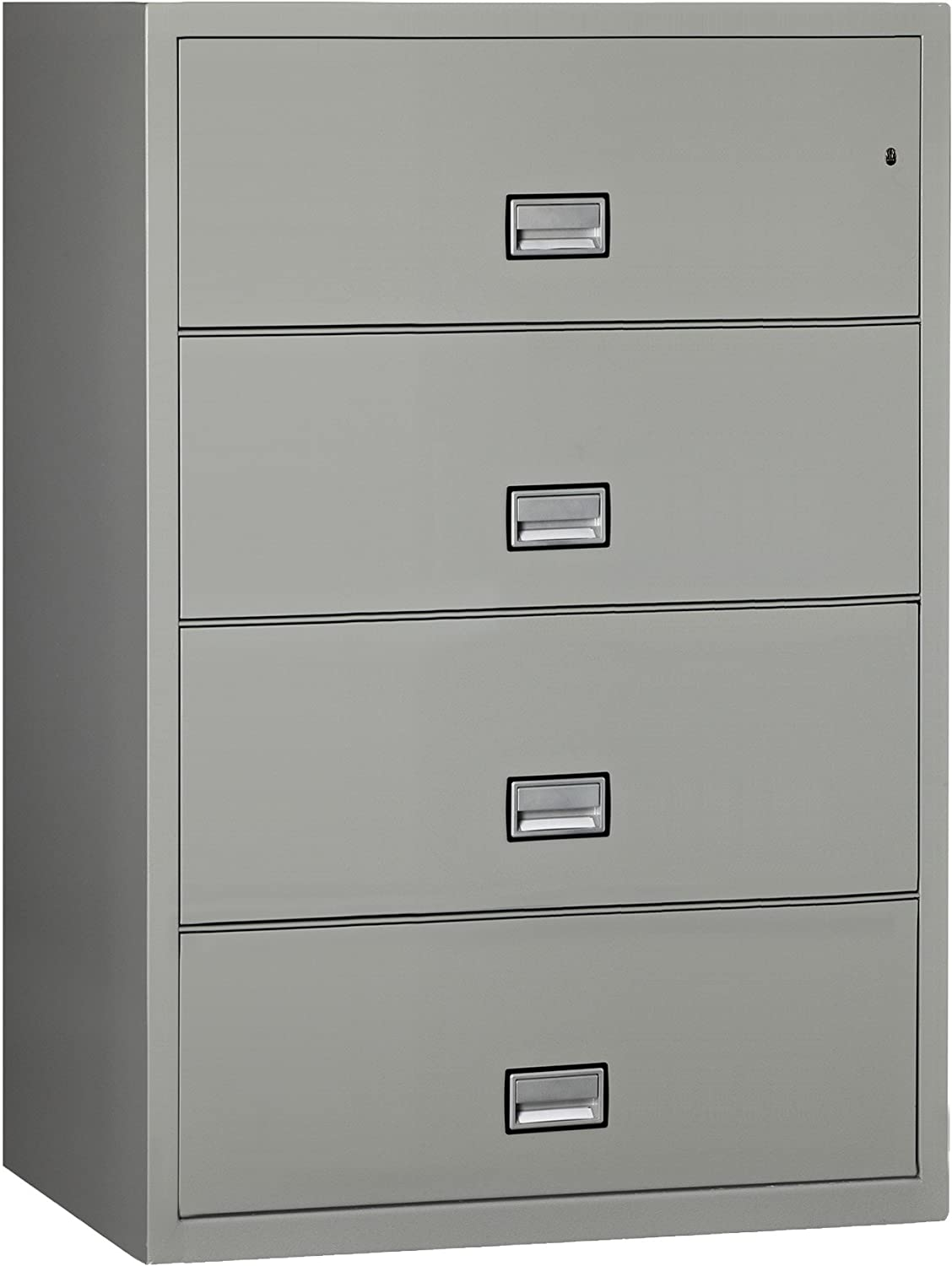 Phoenix Lateral 38 inch 4-Drawer Fireproof File Cabinet - Light Gray Phoenix Safe International