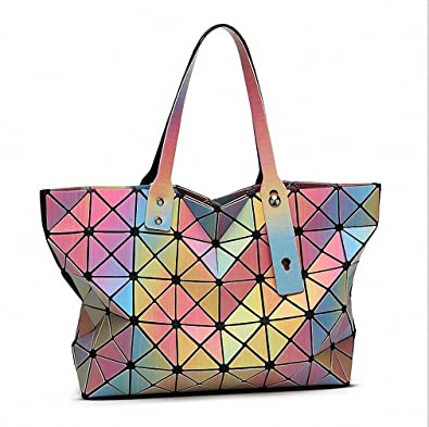 f1c1e20561 NEW Brand rainbow colors Bao Bao Bag High-end Geometric Handbags Plaid  Shoulder Diamond Lattice BaoBao Ladies Messenger Bags Multi 31cm  Handbags   Amazon. ...