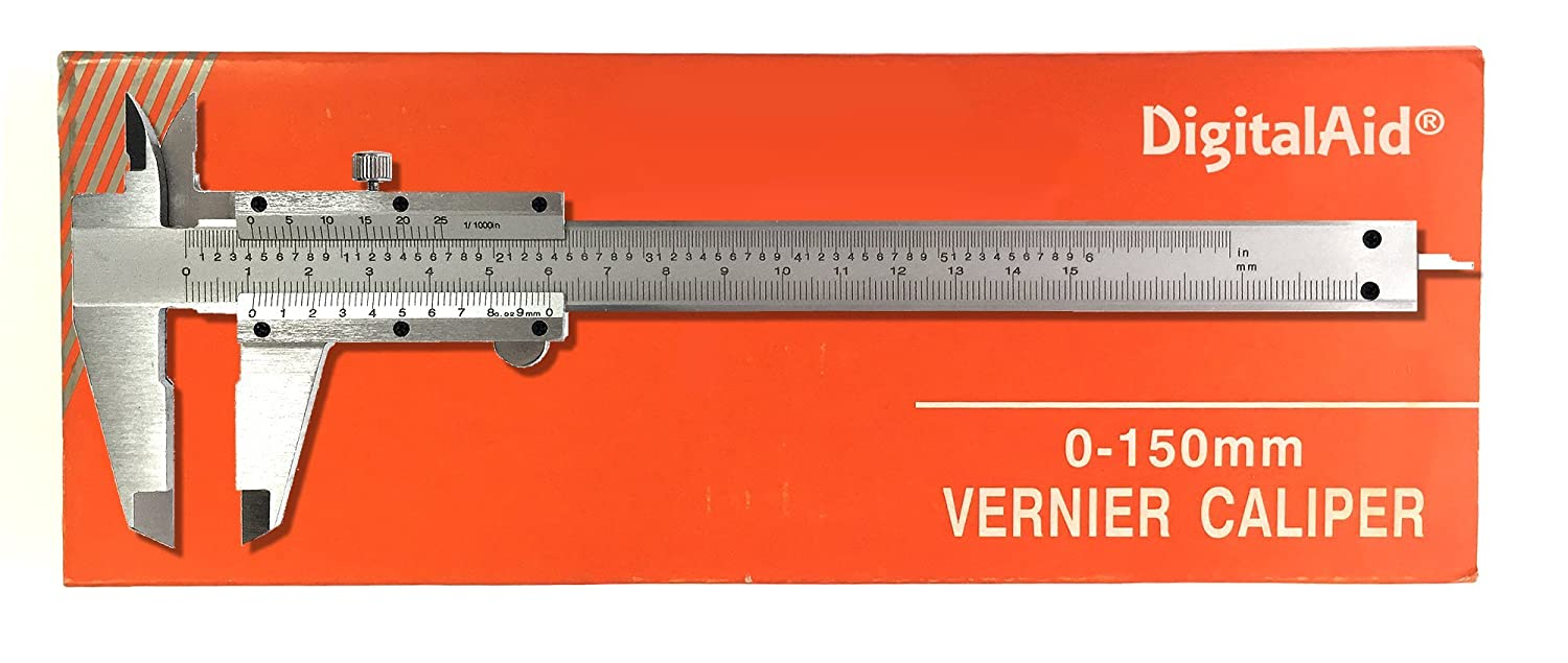 Professional Quality Stainless Steel Vernier Caliper. Non Digital Vernier Caliper. measuring device for inside outside depth and step measurements.
