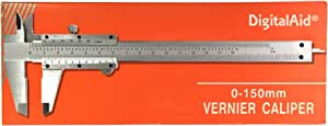 Professional Quality Stainless Steel Vernier Caliper. Non-Digital Vernier Caliper. measuring device for inside, outside, depth and step measurements.