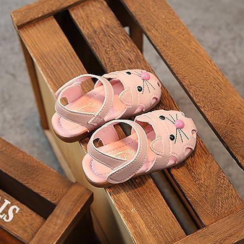 Sandali per Bambina, Scarpe Eleganti Piatto Scarpe Principessa RoseEtichetta 19/Scarpe Lunghezza 135mm