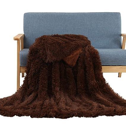 230718c33b Soffte Cloud Super Soft Shaggy Longfur Throw Blanket Fuzzy Faux Fur  Lightweight Warm Elegant Cozy Plush