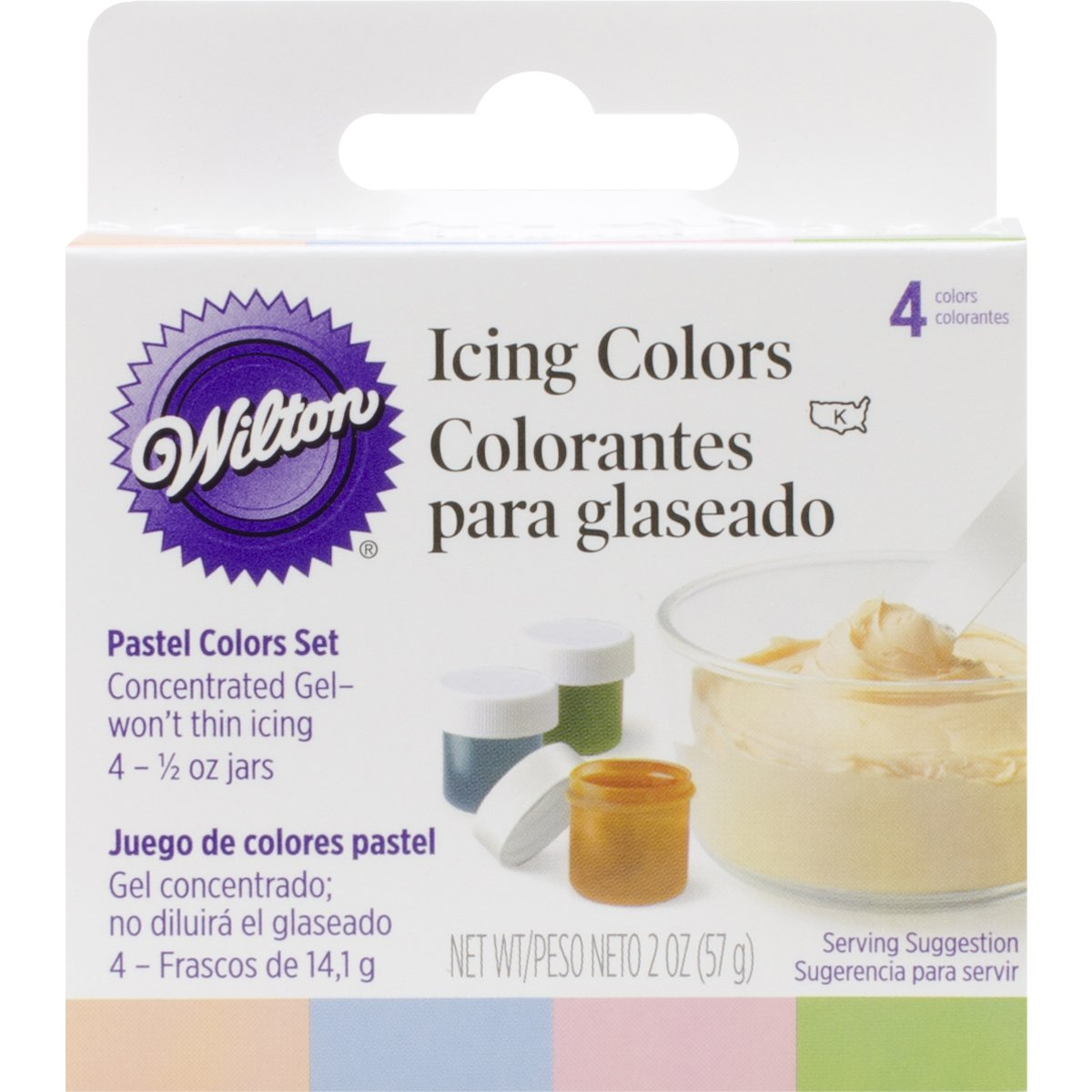 Wilton Pastel 4-Piece Icing Color Set