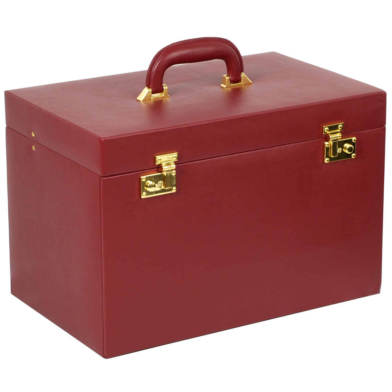 WOLF 280804 Heritage Jewelry Trunk, Red