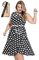 Pyramid Women's Polka Dot Ruffle Off shoulder Long Sleeves Plus Size Dress