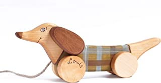 Personalized Wooden Toy, Pull Along Toy Dog, Pull Toys for 1 Year Old, Pull Toys for Toddler