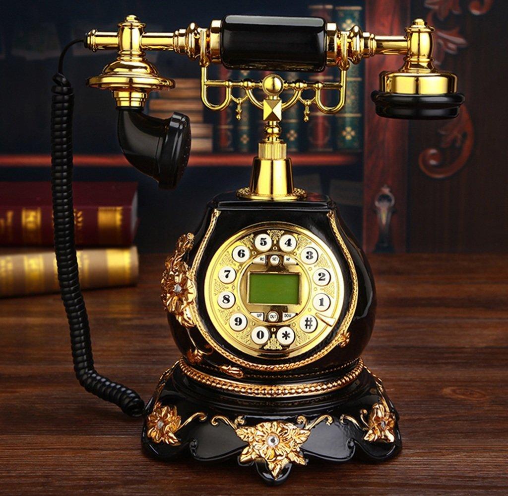 LLYDIAN Sonnerie électronique téléphone rétro européen Mode créatif Fixe 20x30cm