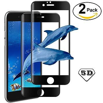 0d7f2a1309e [2-Unidades] Protector de Pantalla 5D para iPhone 6 / 6s Cristal Templado,  AROYI [2 Pack] iPhone ...