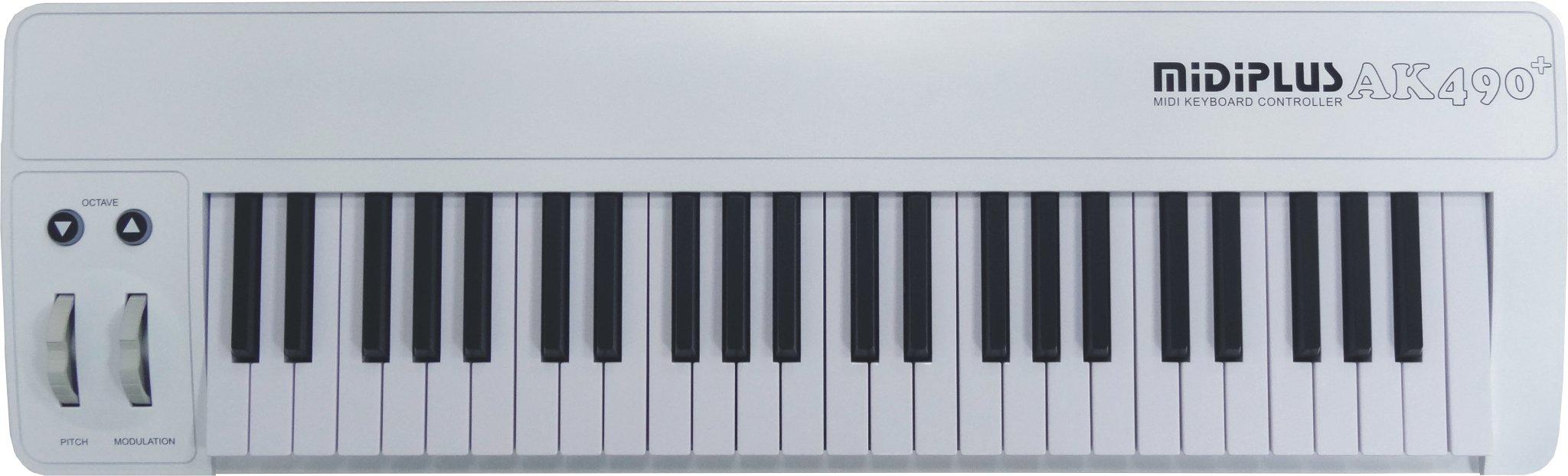 midiplus USB MIDI keyboard controller, 49-Key (AK490+)