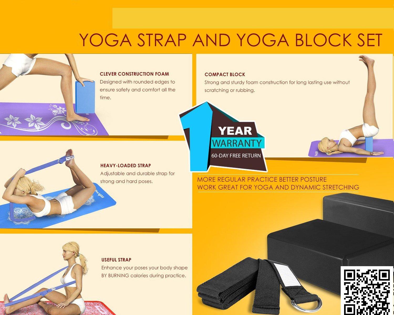 el olor y humedad / lokep correa de Yoga y juego de bloques para yoga ligero /Alta densidad EVA espuma bloque de Yoga para apoyo y profundizar poses 2/unidades