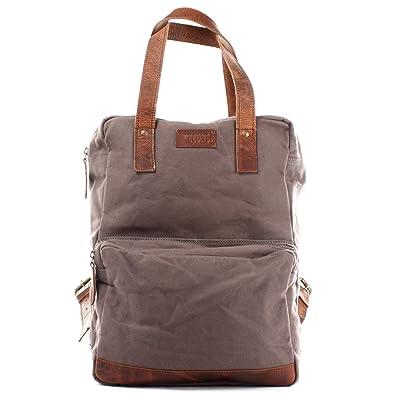 deedb503751e0 LECONI Rucksack retro Lederrucksack Freizeitrucksack Vintage-Look  Wanderrucksack backpack modern für Damen   Herren Canvas