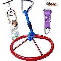 Trailblaze Hanging Wheel for Ninja Warrior Slackline Hanging Obstacle Course for Kids