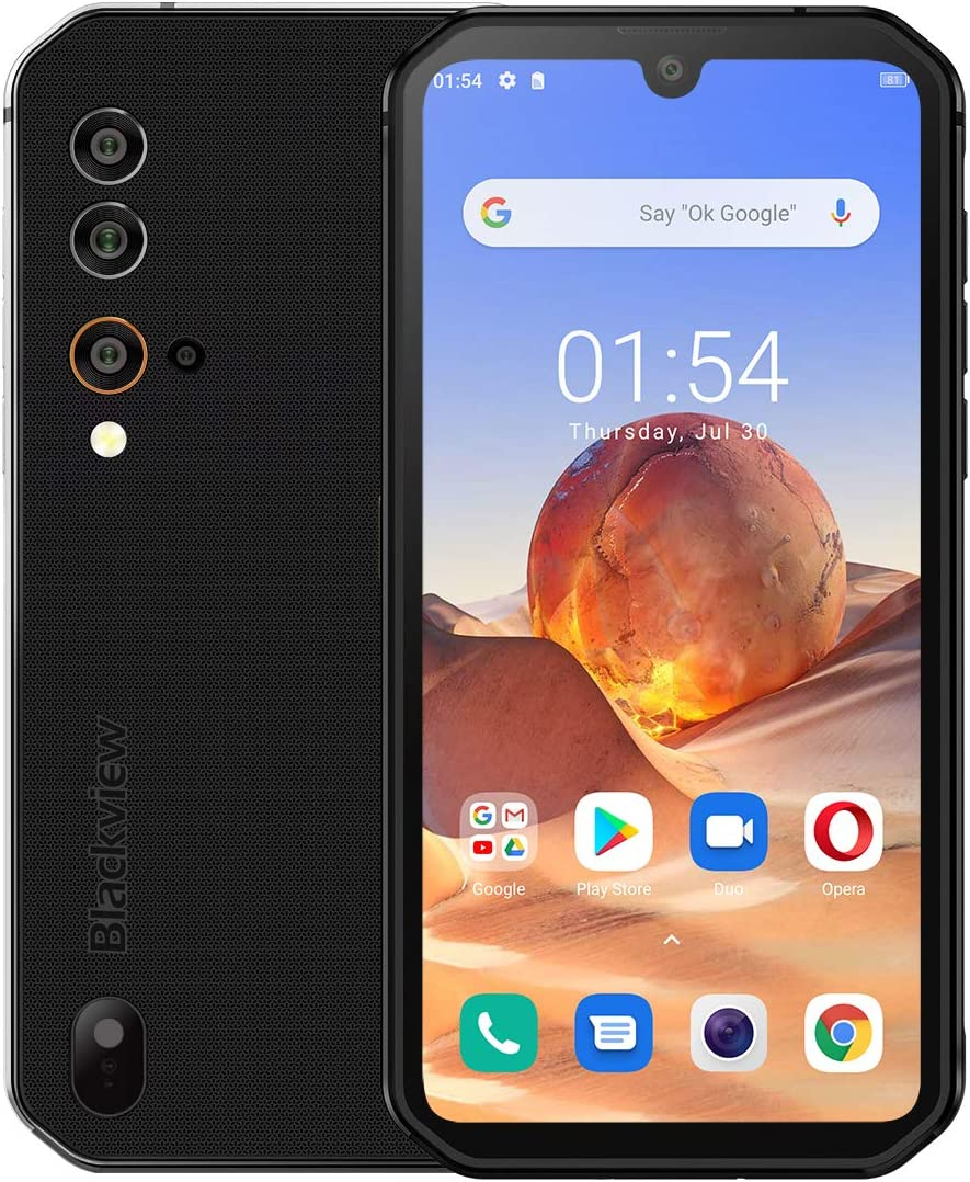 Android 10 Rugged Smartphone, Unlocked Cell Phone Blackview BV9900E(2021), IP68 Waterproof 48MP+16MP Quad Camera 4K Video, 6GB + 128GB ROM 5.84'' FHD Screen Dual SIM Global 4G LTE Gaming Cellphones