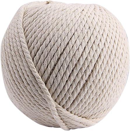 1 rollo de algodón cuerda Macrame cuerda de cuerda Bakers gemelos ...