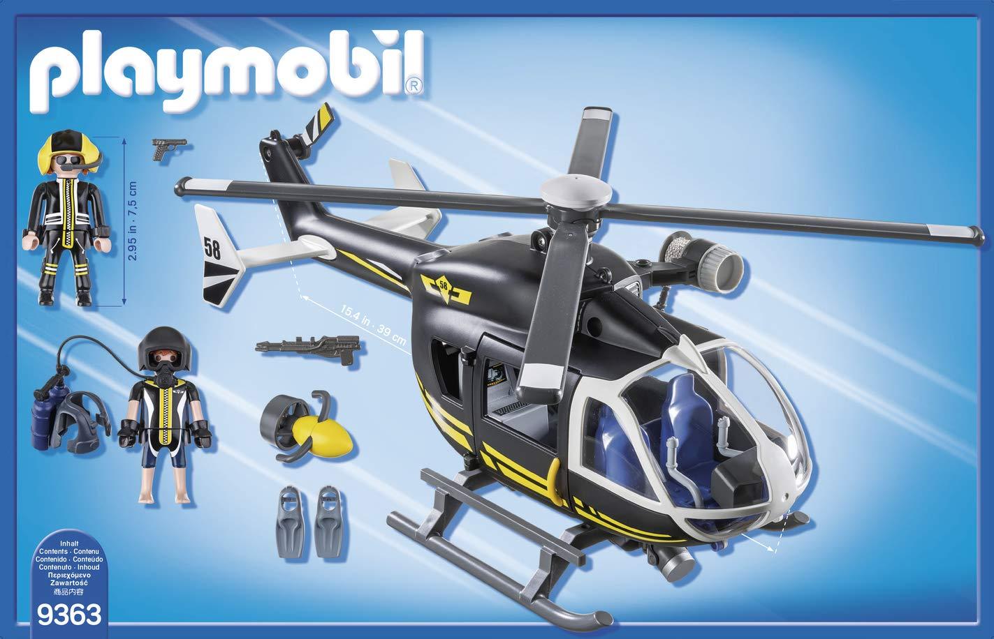 PLAYMOBIL- Helicóptero de Las Fuerzas Especiales Juguete ...