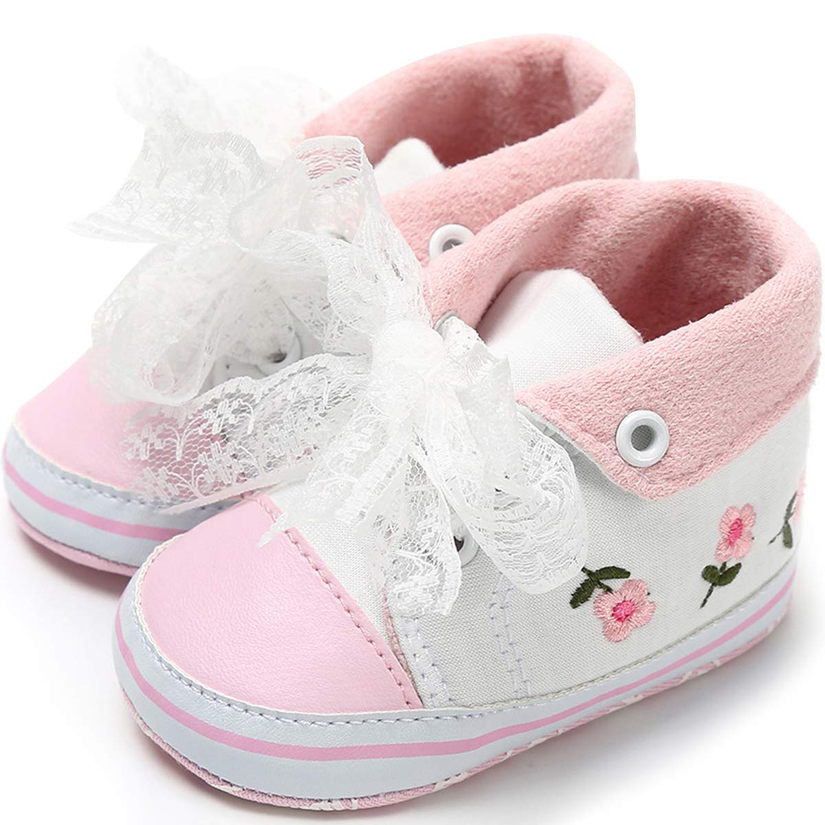 vanberfia Infant Boys Girls Crib Shoes Toddler Sneakers for 0-18 Months