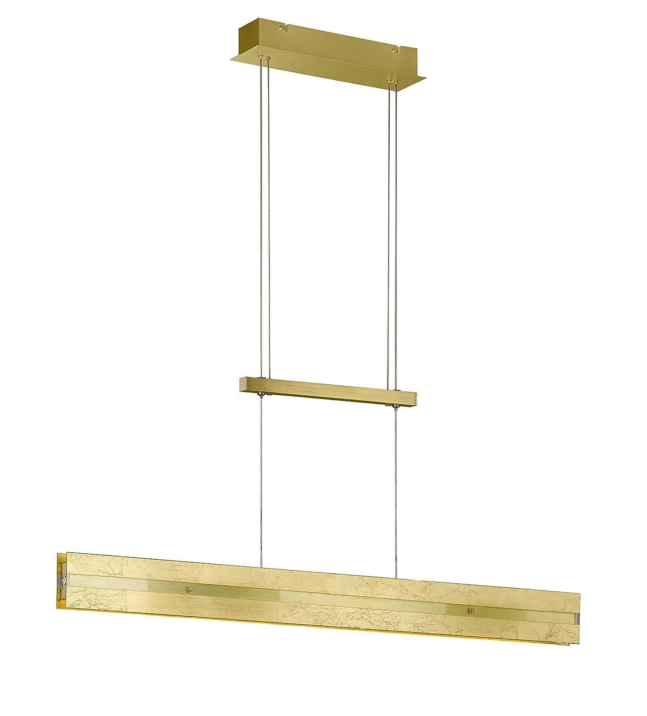 WOFI Pendelleuchte, Aluminium, Integriert, 29 W, Goldfarbig, 91 x x x 8 x 150 cm 918881