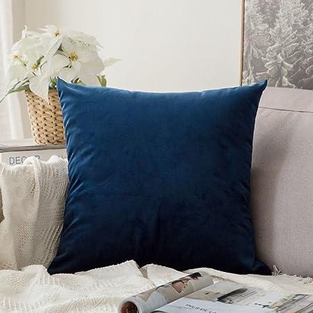 Cuscini Per Divano Blu.Miulee Confezione Da 1 Federa In Velluto Copricuscino Decorativo