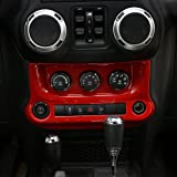 RT-TCZ Interior Accessories Air Conditioning Switch Panel Cover Trim for Jeep Wrangler