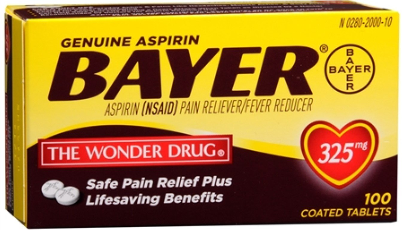Bayer Aspirin 325mg Tablets 100 ea (Pack of 8) by Bayer Healthcare