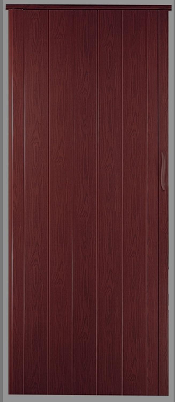 Faltt/ür Schiebet/ür T/ür mahagoni farben H/öhe 202 cm Einbaubreite bis 109 cm Doppelwandprofil Neu