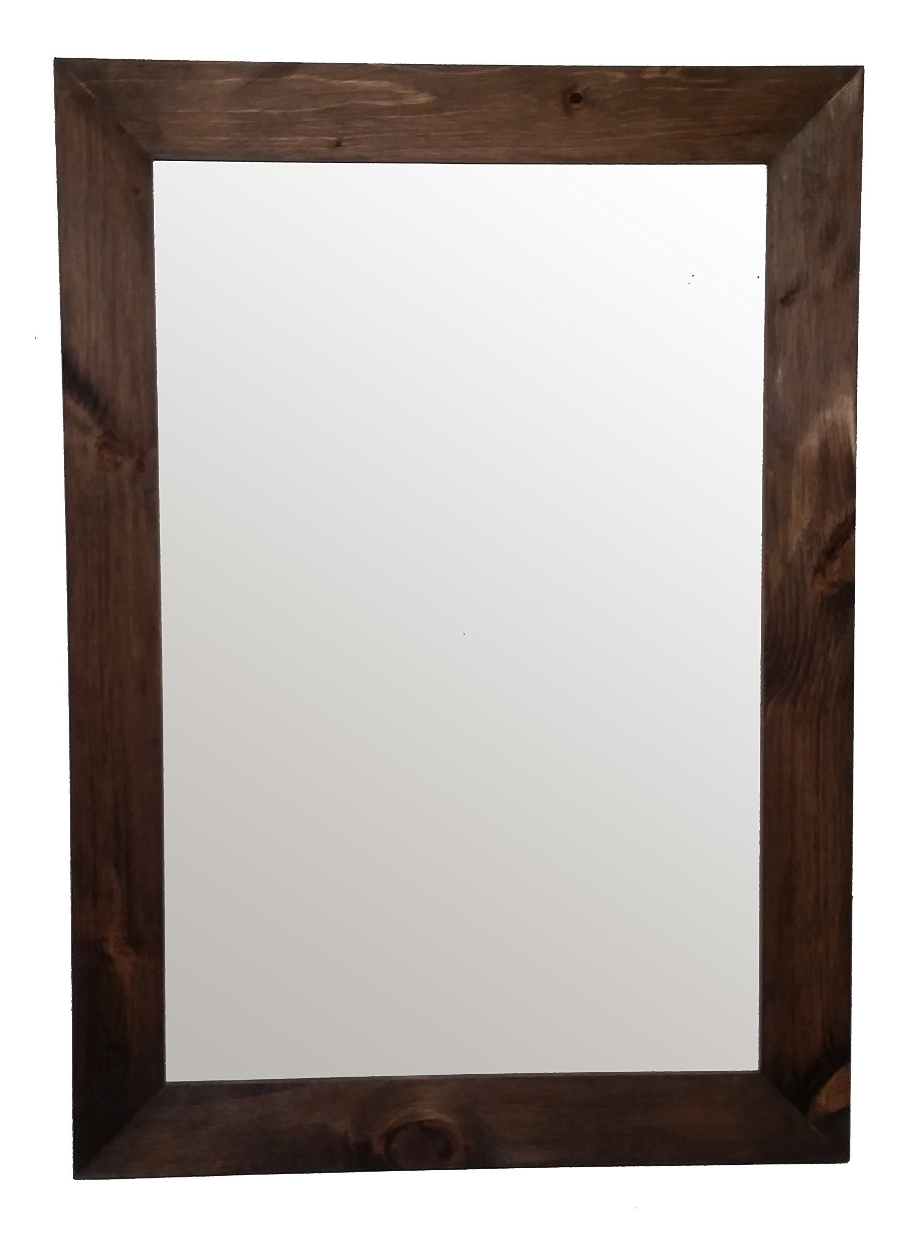 Shiplap Mirror 30 x 42 Vertical Provincial Stain Reclaimed Wood Mirror - Large Wall Mirror - Rustic Modern Home - Home Decor - Mirror - Housewares - Woodwork - Frame by Renewed Decor