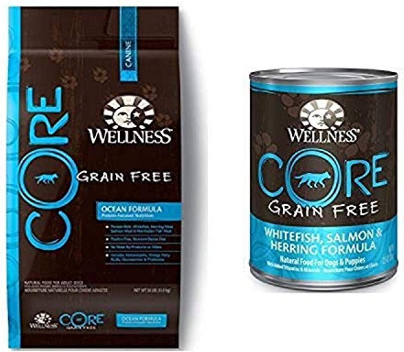 Wellness Well Pack: Core Ocean Grain Free Wet Canned, Dry Dog Food