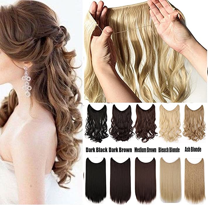 Amazon Women Rubber Band Full Head Hair Extensions 24 125g