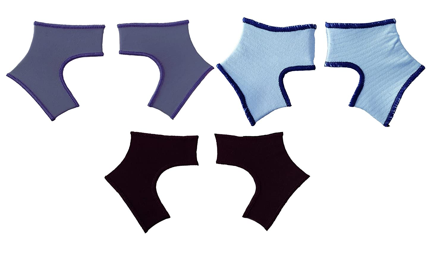 Set of 3 Sock Ons Clever Little Things That Keep Baby Socks On! 6-12M, BLACK-BLUE-BLUEBERRY