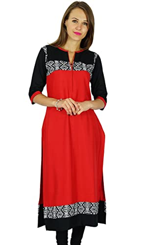 Phagun étnico Kurti diseñador indio de Bollywood Kurta mujeres vestido de la túnica ocasional