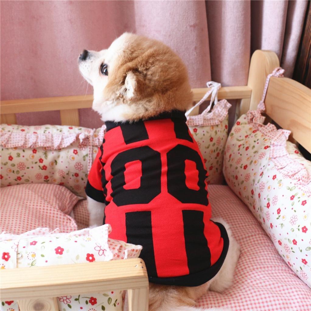 SunGren Ropa para perros, chaleco de fútbol Ropa para perros Deporte Disfraz Deportes Ropa para mascotas Chaleco(M,Azul): Amazon.es: Productos para mascotas
