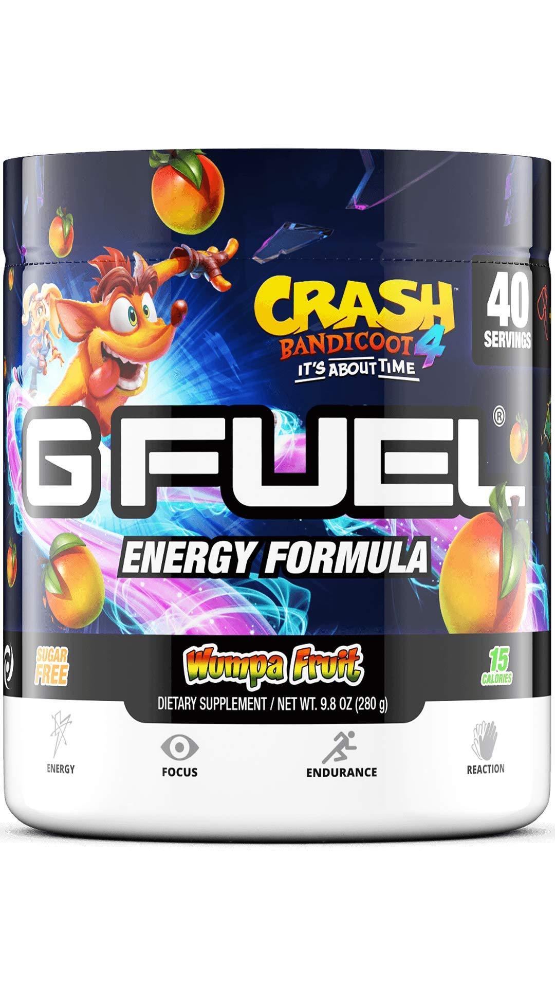 G Fuel Crash Bandicoot Wumpa Fruit (40 Servings) Elite Energy and Endurance Powder 9.8 oz.
