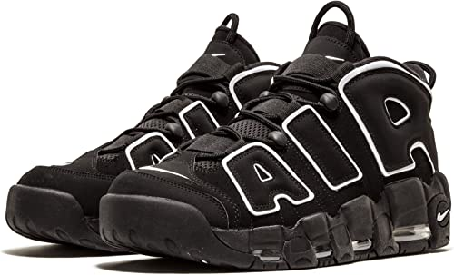 Nike Mens Air More Uptempo Black/White-Black Leather