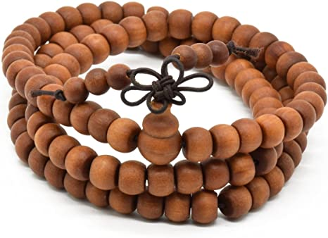 Jewelry Chanting Genuine Nepal Product The Bead Chest Necklace 6mm Sandalwood Mala Beads: Fragrant Aromatic Wooden Meditation Beads for Yoga